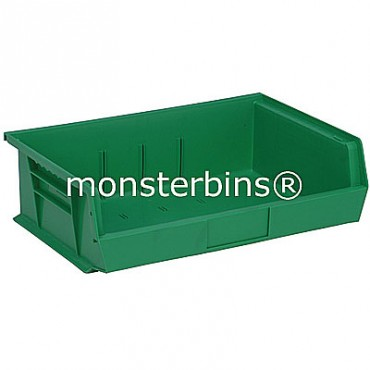 Quantum QUS245 Stacking Plastic Bins 11x16x5  Green