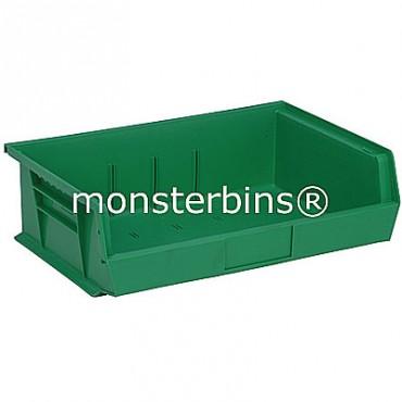 Monster MB245 Stacking Plastic Bins 11x16x5  Green