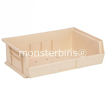 Quantum QUS245 Stacking Plastic Bins 11x16x5  Ivory