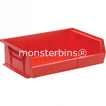 Monster MB245 Stacking Plastic Bins 11x16x5  Red