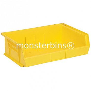 Quantum QUS245 Stacking Plastic Bins 11x16x5  Yellow