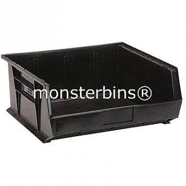 Quantum QUS250 Stacking Plastic Bins 15x16x7  Black