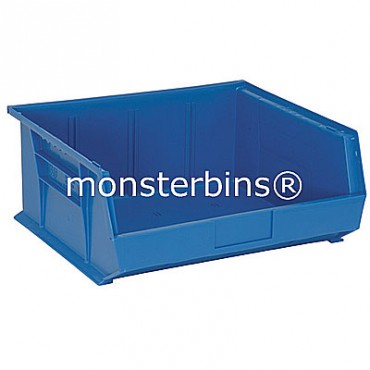 Monster MB250 Stacking Plastic Bins 15x16x7  Blue