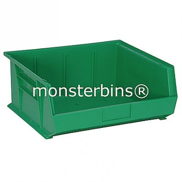 Monster MB250 Stacking Plastic Bins 15x16x7  Green