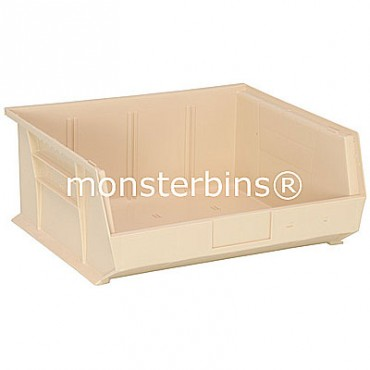 Monster MB250 Stacking Plastic Bins 15x16x7  Ivory