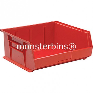 Monster MB250 Stacking Plastic Bins 15x16x7  Red