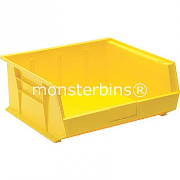 Monster MB250 Stacking Plastic Bins 15x16x7  Yellow