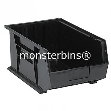 Quantum QUS255 Stacking Plastic Bins 16x11x8  Black