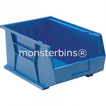 Quantum QUS255 Stacking Plastic Bins 16x11x8  Blue