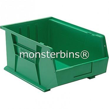 Quantum QUS255 Stacking Plastic Bins 16x11x8  Green