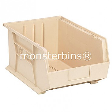 Monster MB255 Stacking Plastic Bins 16x11x8  Ivory