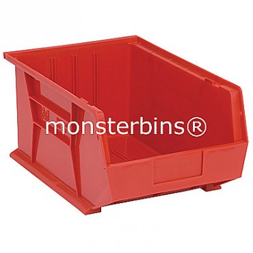 Monster MB255 Stacking Plastic Bins 16x11x8  Red