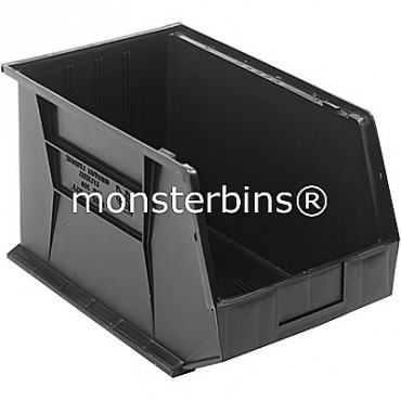 Quantum QUS260 Stacking Plastic Bins 18x11x10  Black