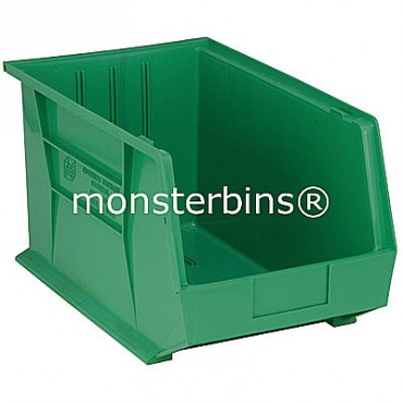 Quantum QUS260 Stacking Plastic Bins 18x11x10  Green