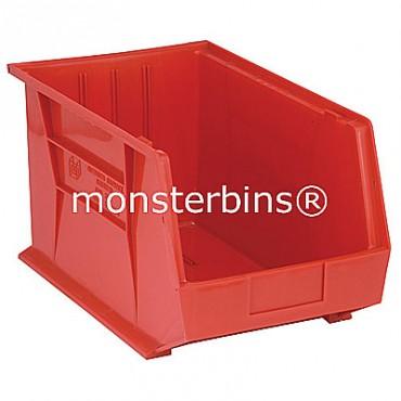 Quantum QUS260 Stacking Plastic Bins 18x11x10  Red
