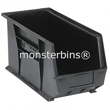 Quantum QUS265 Stacking Plastic Bins 18x8x9  Black