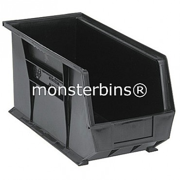 Monster MB265 Stacking Plastic Bins 18x8x9  Black