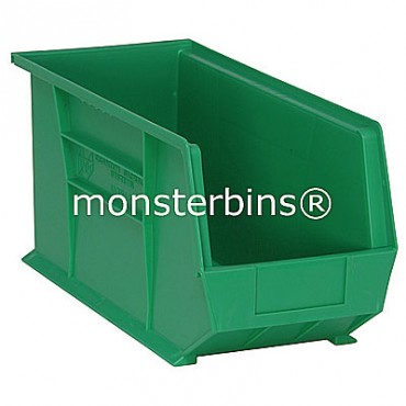 Monster MB265 Stacking Plastic Bins 18x8x9  Green
