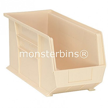 Monster MB265 Stacking Plastic Bins 18x8x9  Stone