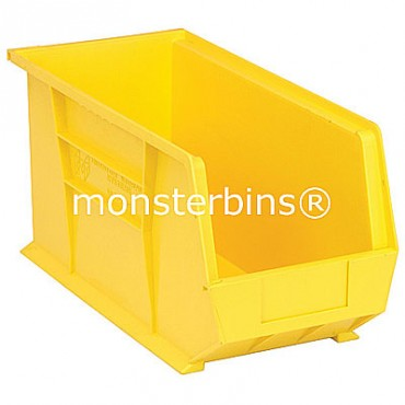 Quantum QUS265 Stacking Plastic Bins 18x8x9  Yellow