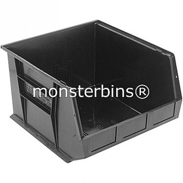 Quantum QUS270 Stacking Plastic Bins 18x16x11  Black
