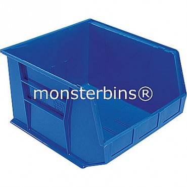 Monster MB270 Stacking Plastic Bins 18x16x11  Blue