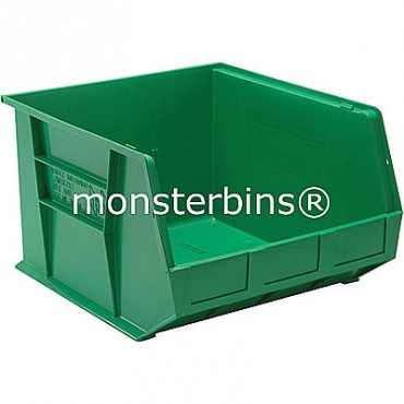 Quantum QUS270 Stacking Plastic Bins 18x16x11  Green
