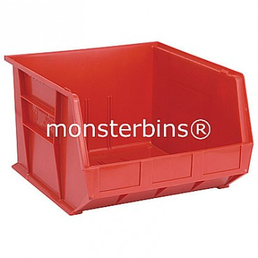 Monster MB270 Stacking Plastic Bins 18x16x11  Red