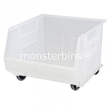 Quantum Clear Stacking Plastic Bins QUS275MOBCL