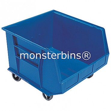 Monster MB275 Stacking Plastic Bins 18x16x11 Mobile  Blue