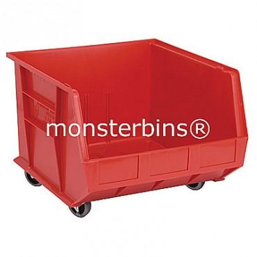 Quantum QUS275 Stacking Plastic Bins 18x16x11 Mobile  Red