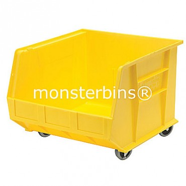Monster MB275 Stacking Plastic Bins 18x16x11 Mobile  Yellow