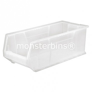 "24"" Clear Stackable Hulk Bin - 24""x8""x9"""