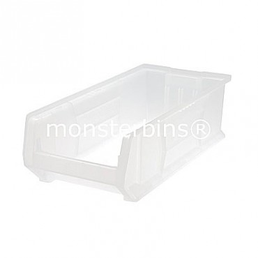 "24"" Clear Stackable Hulk Bin - 24""x11""x7"""
