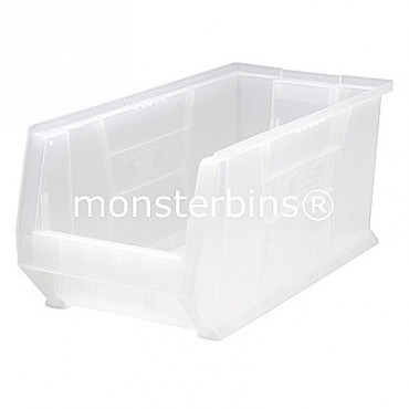 "24"" Clear Stackable Hulk Bin - 24""x11""x10"""