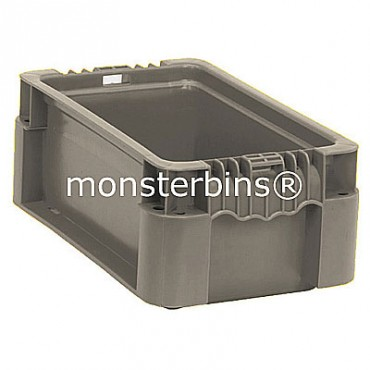 Heavy-Duty Straight Wall Stacking Container - 12x7-1/2x5