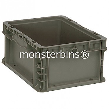 Heavy-Duty Straight Wall Stacking Container - 12x15x7
