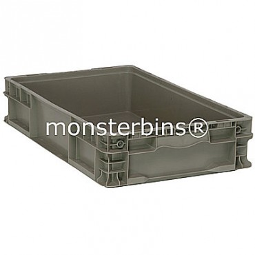 Heavy-Duty Straight Wall Stacking Container - 24x15x5