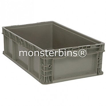 Heavy-Duty Straight Wall Stacking Container - 24x15x7
