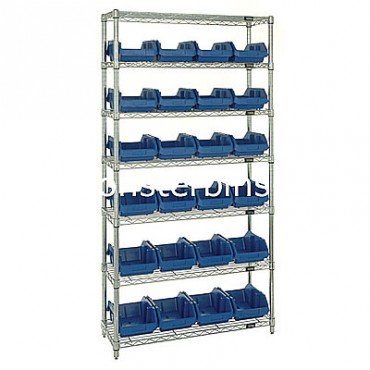 Wire Shelving Unit with 7 Shelves - 24 MQP1285