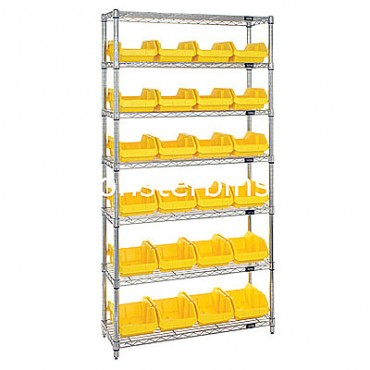 Wire Shelving Unit with 7 Shelves - 24 MQP1887