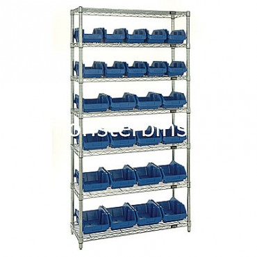 Wire Shelving Unit with 7 Shelves - 10 MQP1265, 16 MQP1285