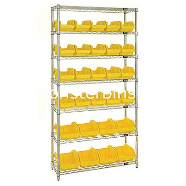 Wire Shelving Unit with 7 Shelves - 20 MQP1265, 8 MQP1285