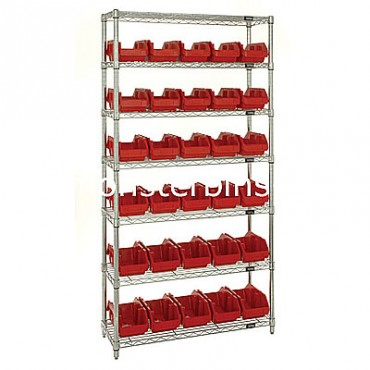 Wire Shelving Unit with 7 Shelves - 30 MQP1265
