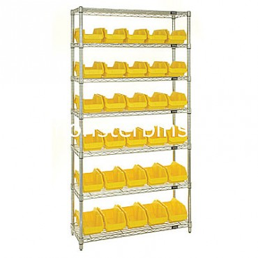 Wire Shelving Unit with 7 Shelves - 30 MQP1867