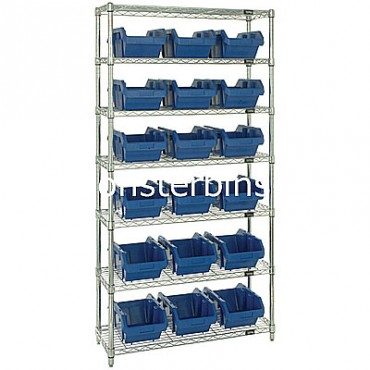 Wire Shelving Unit with 7 Shelves - 18 MQP1496