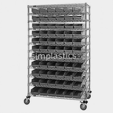 24x48x74 - 12 Shelves - 55 MSB105, 36 MSB106