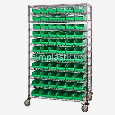 18x48x74 - 12 Shelves - 55 MSB103, 36 MSB104