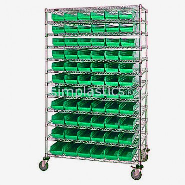 24x48x74 - 12 Shelves - 110 MSB105