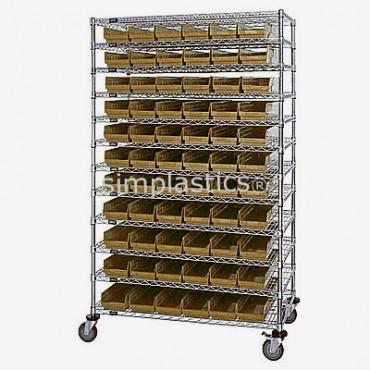 12x48x74 - 12 Shelves - 55 MSB101, 36 MSB102